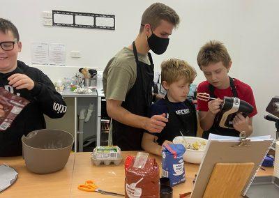 Kids having fun in cooking class